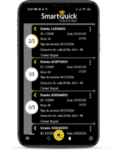 Aplicación Móvil de Control SmartQuick servicios